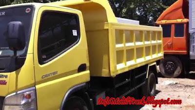 Mitsubishi canter standar dump truk