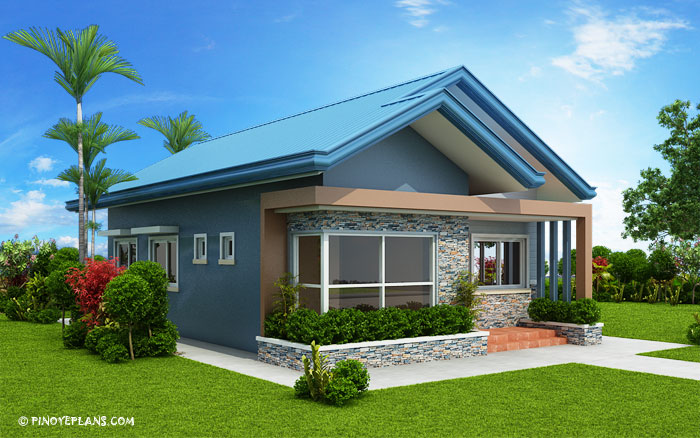 Myhouseplanshop Three Bedroom Blue Roof Modern House Plan
