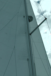 Fitting a 3rd reefing line