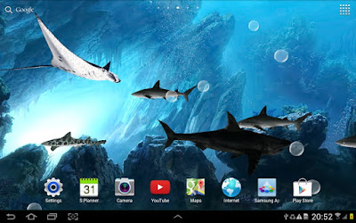 3D Sharks Live Wallpaper Apk For Android