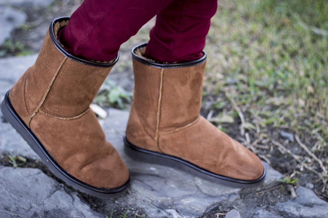 Burgundy Color Shoes Women