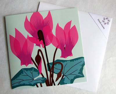 Cyclamen by Jane Crick - greetings card