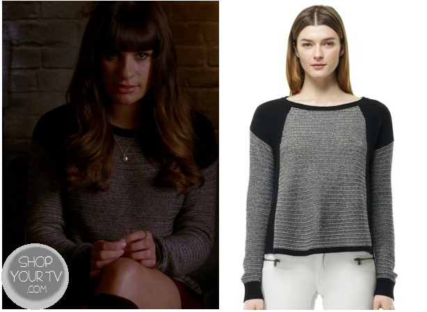 Glee: Season 4 Episode 12 Rachel's Grey Knit Dress | Shop