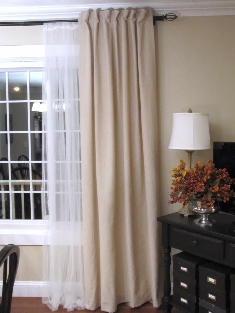 Tab Top Curtain To Back