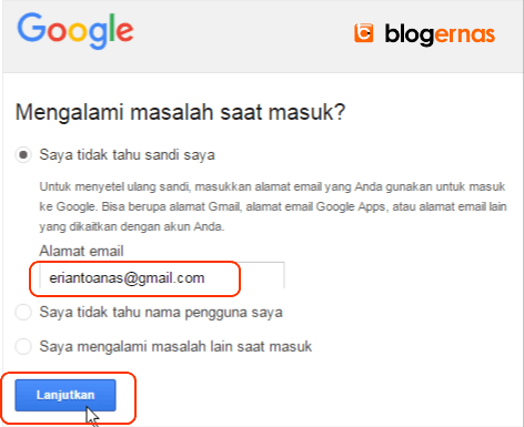 Cara Detail Mengatasi Lupa Password Gmail