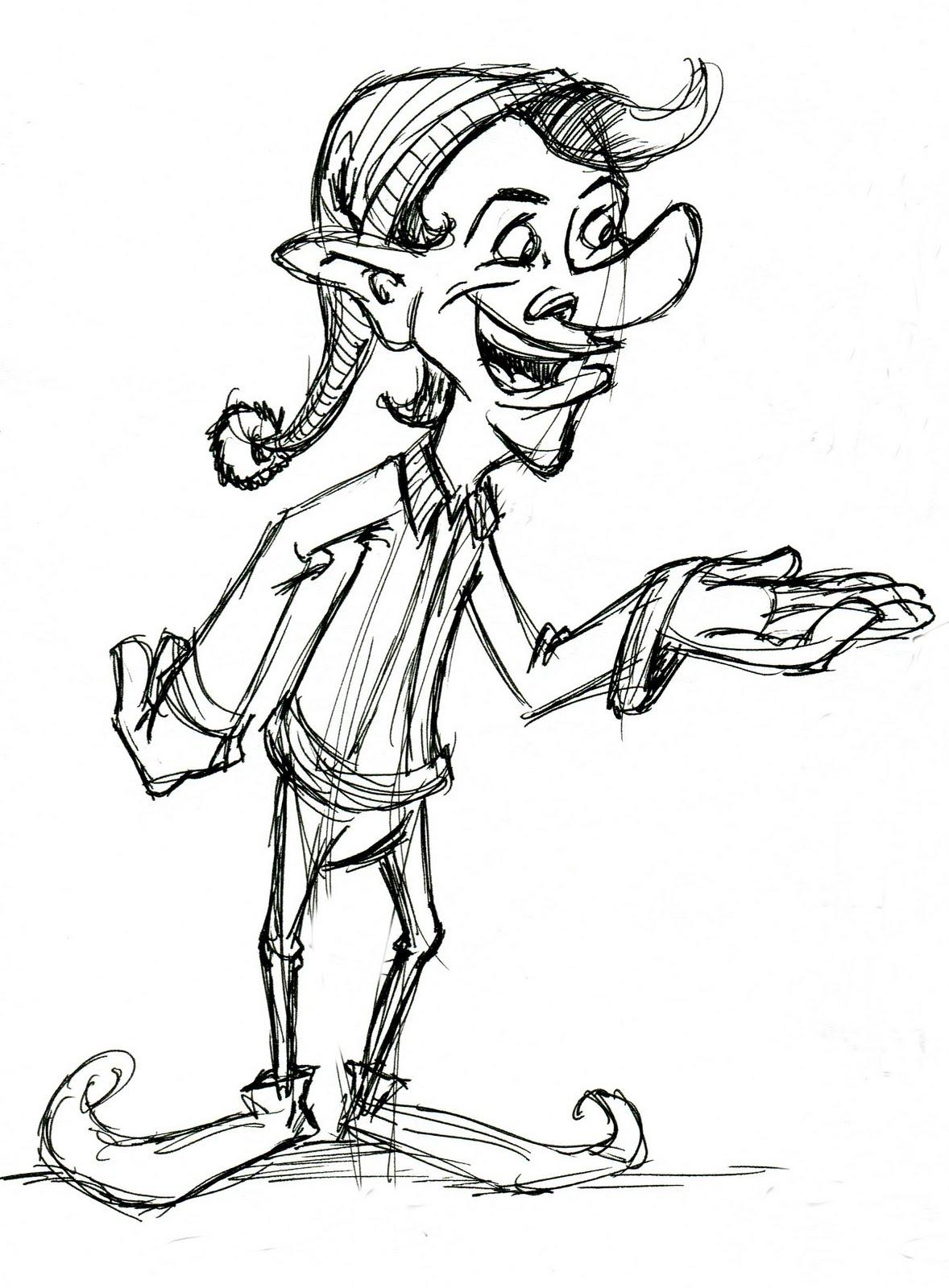 Joe Apel: Elf Drawing