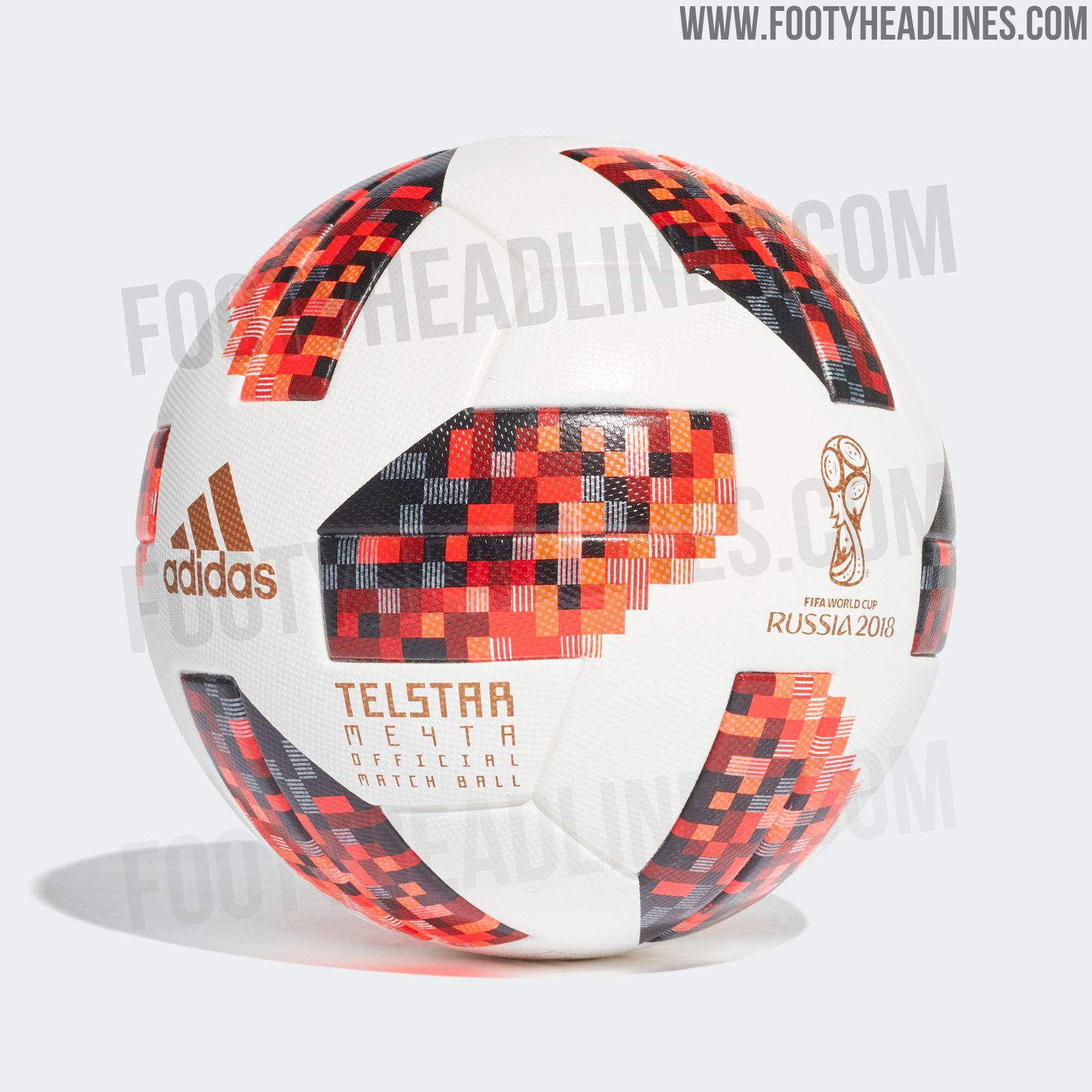 Adidas Telstar 18  Mechta  2018 World Cup Knock-Out Stage Official Match  Ball c43f27350cf4f