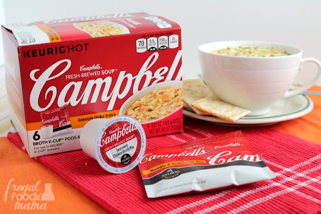 New Campbell's® Fresh-Brewed Soup® Broth and Noodle Mixes are an easy, quick, and filling go-to snack option. #ad @campbells