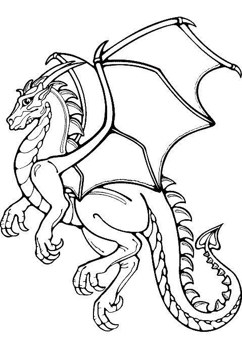 Tranh tô màu con rồng có cánh