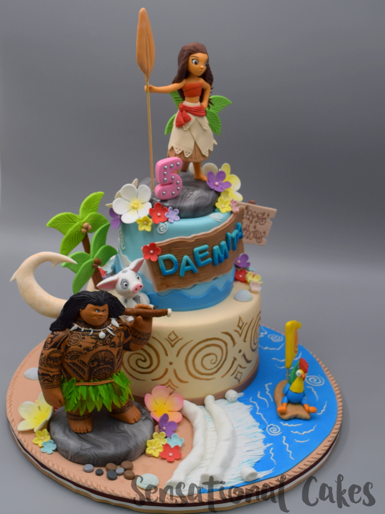 The Sensational Cakes Moana Inspired Beach Birthday Theme