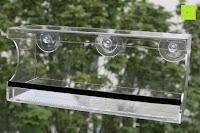 Erfahrungsbericht: PEDY Großer Fenster Vogelfutterspender, Transparenter Saugfuß Durchsichtiger Vogelhaus Fenster Vogelfutterspender Großer Acryl Vogelfutterspender Vogelfutterstation