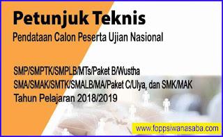 JUKNIS Pendataan CAPESUN 2018-2019-SMP-SMA-SMK