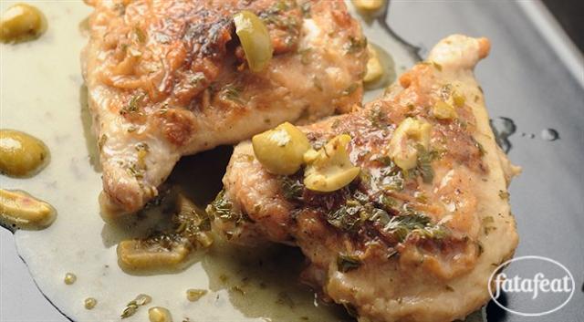 دجاج بصلصة الزبدة والليمون - طريقة عمل دجاج بصلصة الزبدة والليمون