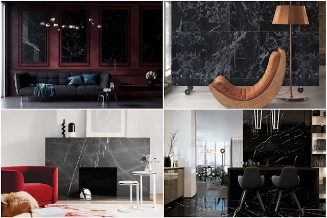 20 Charming Black Marble Home Designs