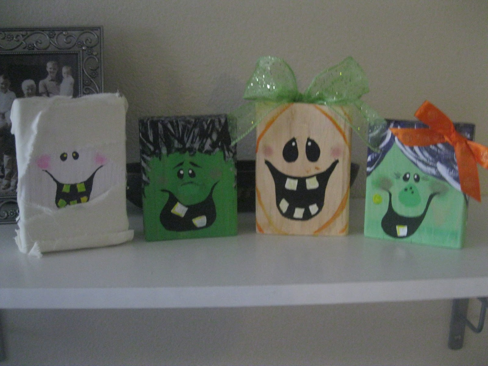 Priddy Haven Project 2x4 Halloween Faces