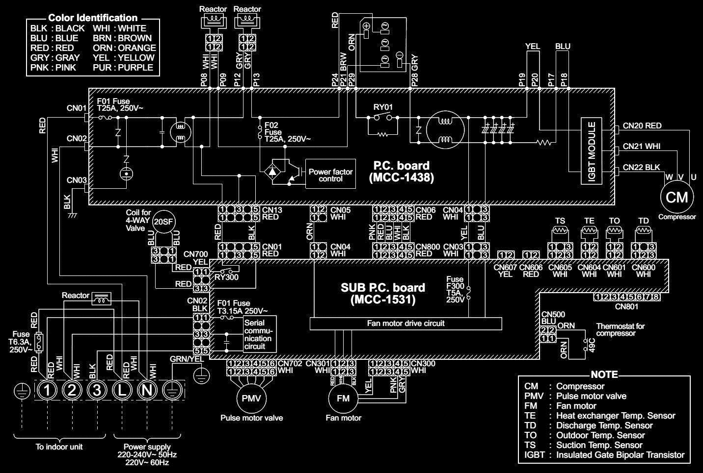 toshiba air conditioner wiring diagram conditioner wiring diagram toshiba split air conditioner ravsm562at ravsm1402at [ 1432 x 965 Pixel ]
