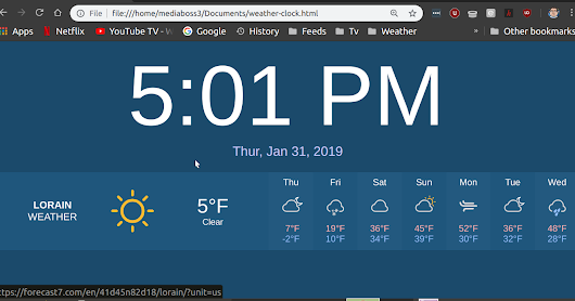 Weather Clock HTML