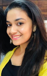Keerthy Suresh in Green Dress with Cute and Awesome Lovely Smile Latest Selfie