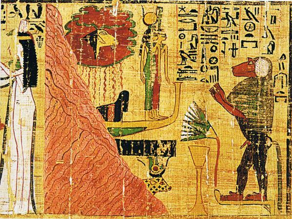 Mythological papyrus of the Amun's dancer Tahemenmut (Papyrus of Tahemenmut)