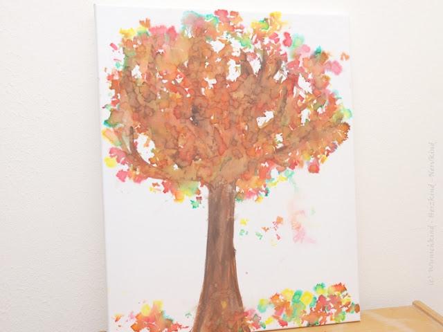 Wunschkind Herzkind Nervkind Eine Herbst Spirale Basteln Mit
