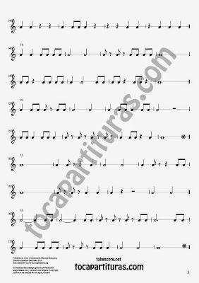 5 Parte 35 Ejercicios Rítmicos para Aprender Solfeo Negras, corcheas, blancas y sus Silencios Compás 4x4 cuatro tiempos Sheet Music for quarter notes, half notes, 1/8 notes and silences