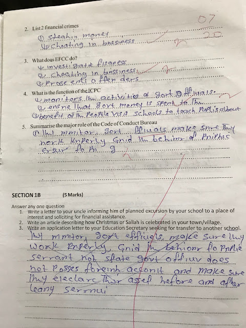 See the competency test that got thousands of teachers sacked in Kaduna...you will be shocked!