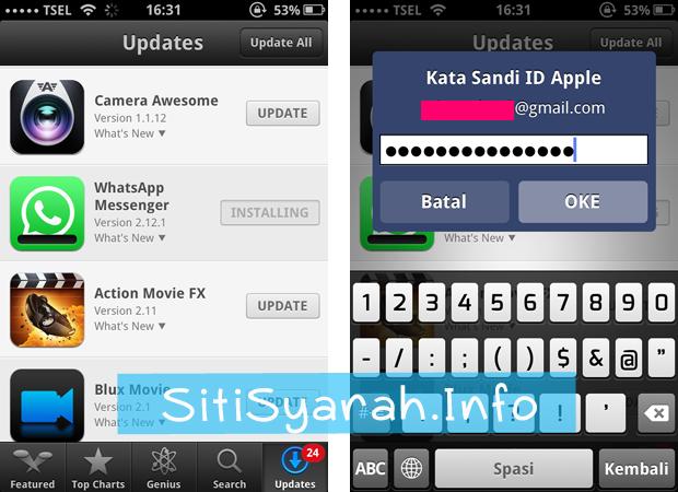 iphone tidak bisa update aplikasi