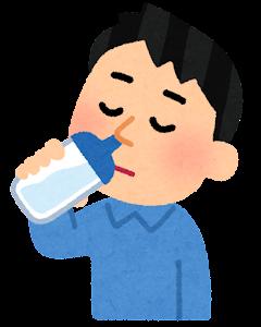 鼻うがいのイラスト(ボトル・飲む)