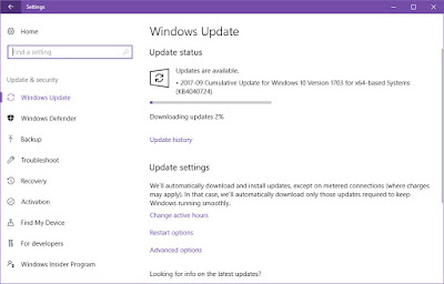 Cumulative Update KB4040724 for Windows 10 v1703 Build 15063.632