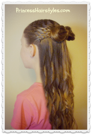 Cute woven hair bow hairstyle