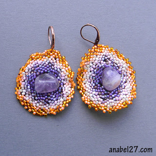 freeform beading beadwork free form peyote earrings jewelry beadwoven