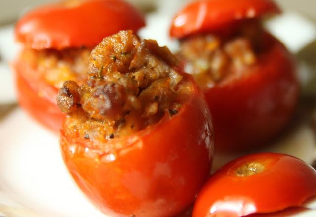 Stuffed Cherry Tomatoes à la Bonne Femme. Gluten-free