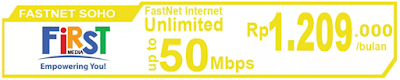 Paket Internet First Media FastNet Soho