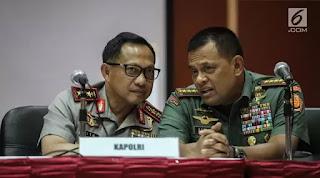 Jenderal Gatot: Jelang Pilkada, TNI-Polri Harus Akur