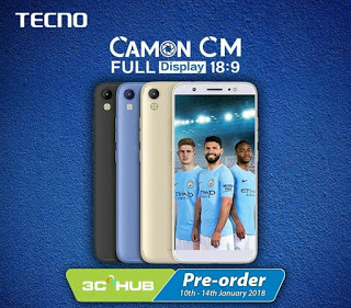 Tecno Camon CM Full Specifications and Price in Nigeria