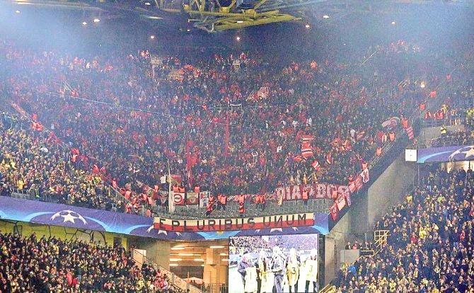 Benfica Adeptos Dortmund