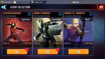 Marvel Strike Force Elektra and Crossbones
