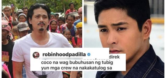 """Robin Padilla tells Coco Martin: """"Wag bubuhusan ng tubig yung mga crew na nakakatulog sa pagod""""   Pinoy Trending"""