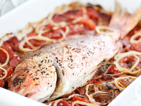 Caribbean Baked Red Snapper