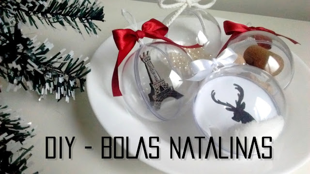 Bolas para pendurar na árvore de Natal