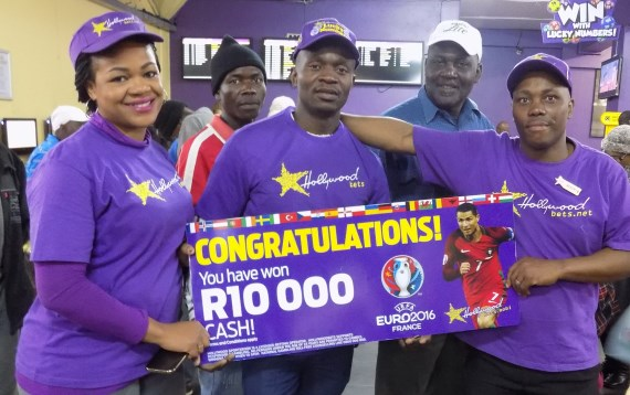 Sibusiso from Newtown Mall, JHB - Hollywoodbets Euro 2016 branch winner