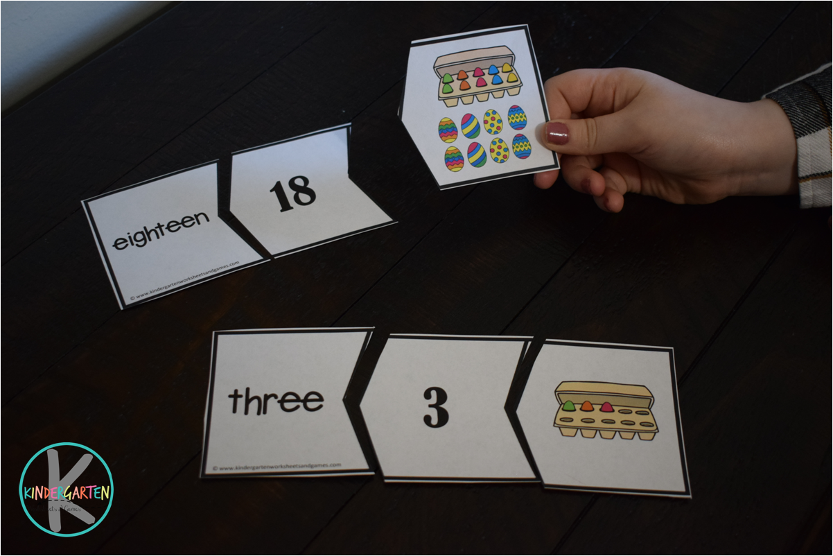 Kindergarten Worksheets And Games Free Easter Count To 20