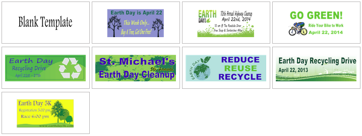 Earth Day Banner Templates