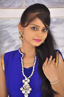 Actress Harisha Krishna Stills in Beautiful Blue Chudiddar  0007.jpg