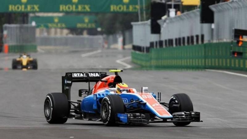 Rio Haryanto saat tampil di kualifikasi GP Eropa di Sirkuit Baku, Azerbaijan