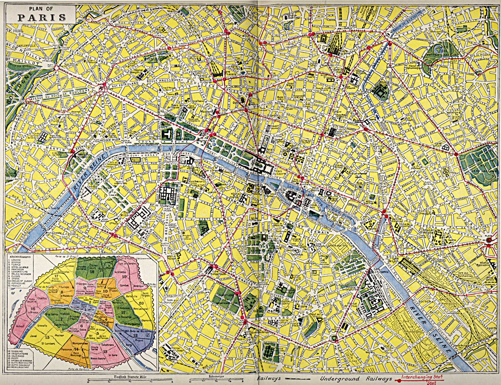 metro map 26d43e94a54cd47f33a116c4e6345393 map of paris 1922