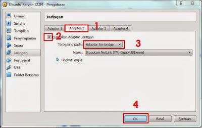 Cara Install Ubuntu Server 12.04 di Virtualbox