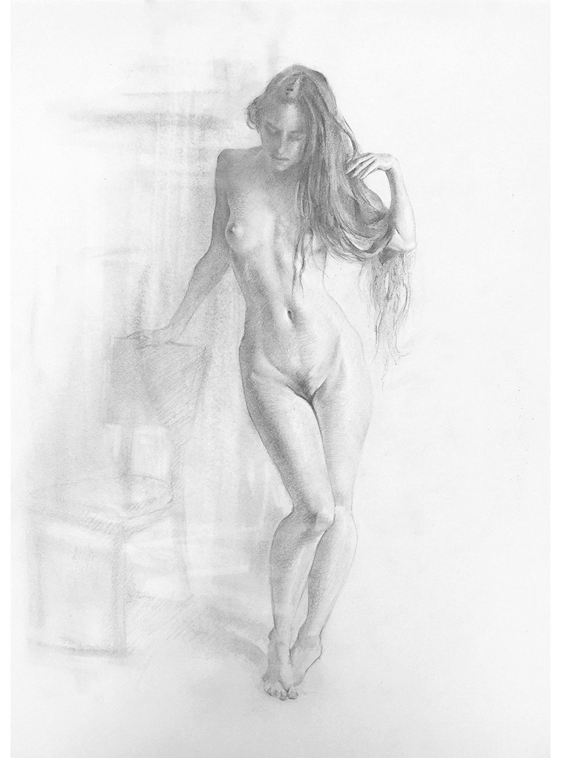 Iva K, Pencil Figure Drawing