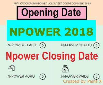 2018/2019 Npower Closing Date Deadline | N-power Re-Opening