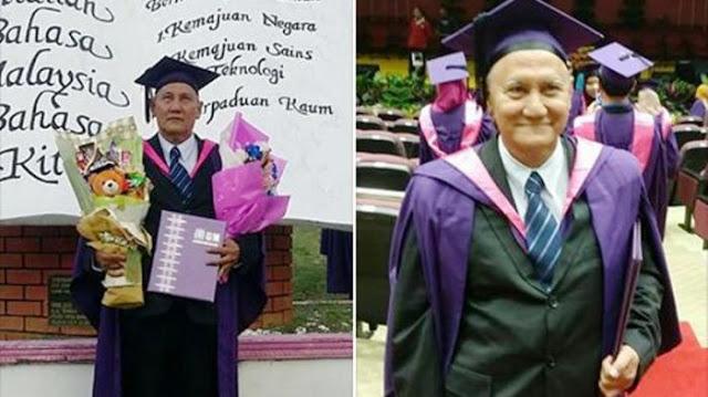 Sarjana Berusia 69 Tahun Ini Jadi Viral, Kisah Perjuangannya Saat Kuliah Mengharukan